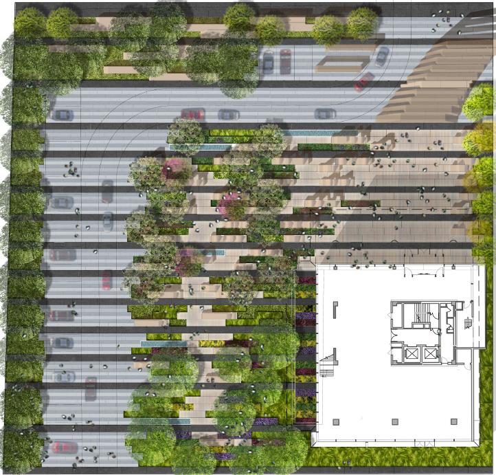 现代-极简-创意-特色坐凳顶级办公区设计方案+施工图+实景照片