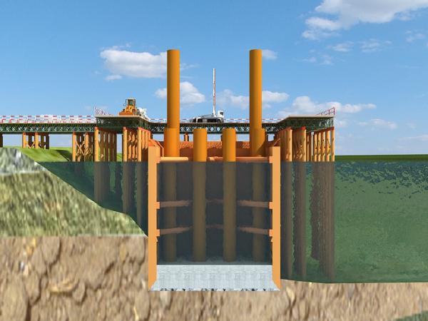 [淮南]公路大桥工程40#墩双壁钢围堰承台施工汇报材料