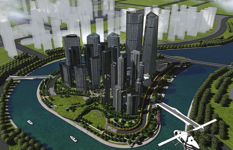 [四川]成都复地金融岛商业规划景观概念设计方案文本