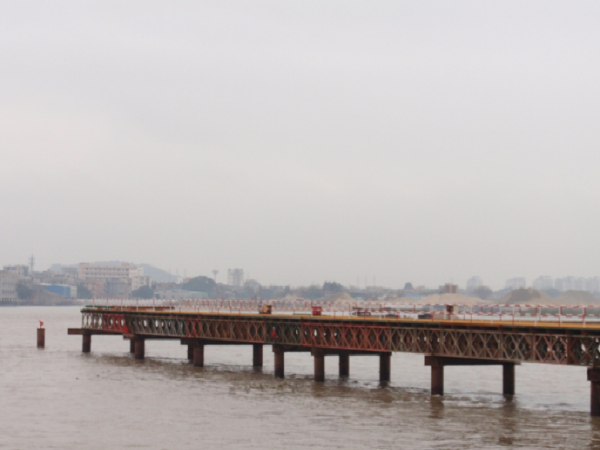 [淮南]公路大桥工程栈桥、平台施工汇报材料