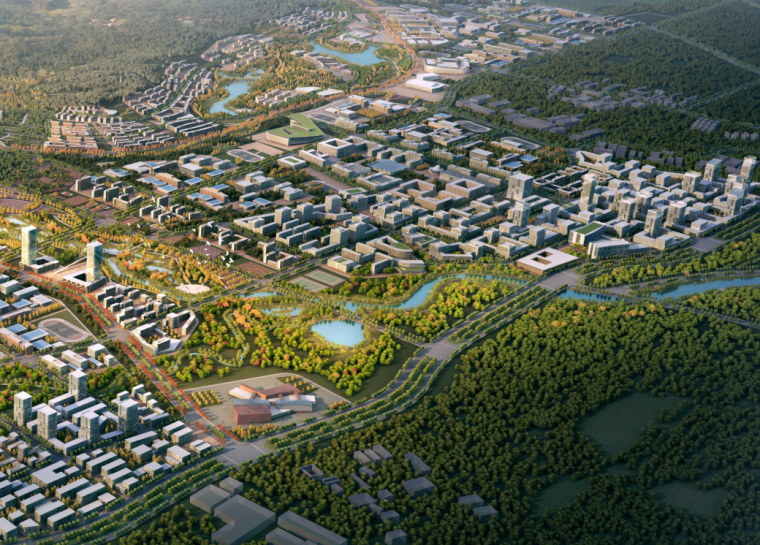 [广州]教育城总体规划一期城市竞赛景观方案文本