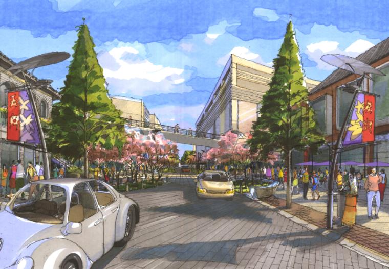 [浙江]杭州市湖滨地区商贸旅游特色街区设计总体规划方案文本_5