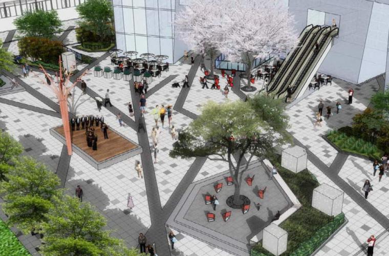 [上海]万科城市花园商业办公广场综合景观方案文本