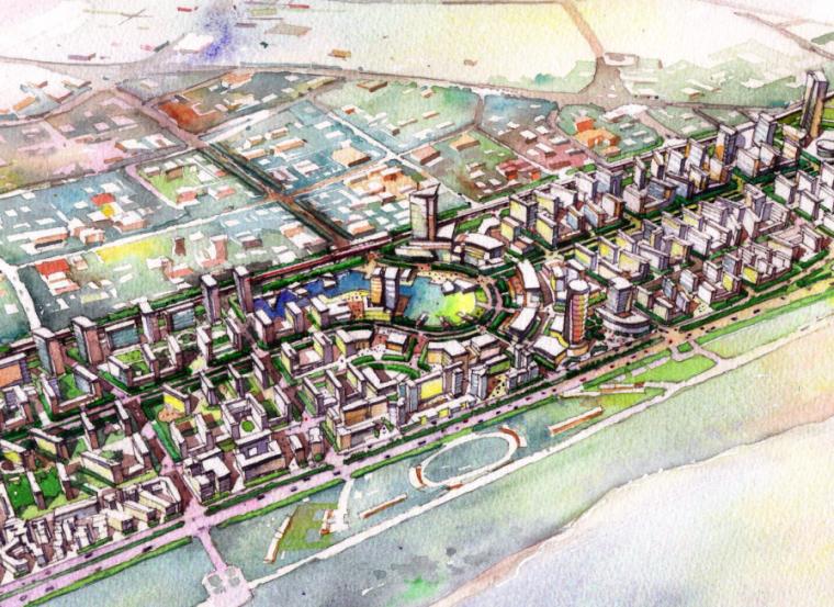 [武汉]城市万科花园滨水商业休闲景观概念设计