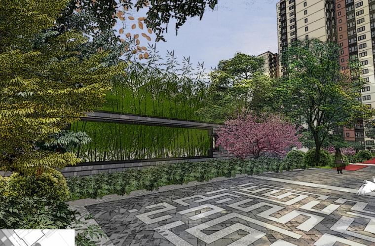 [深圳]万科棠樾4C地块新中式居住区景观设计方案文本