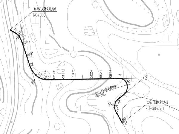 城镇居民点对外交通连接道工程一阶段施工图设计(PDF共182页)