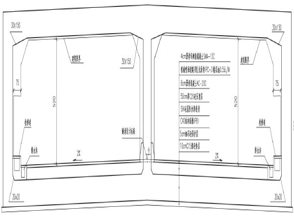 隧道土建工程(隧道/道路/交通/给排水/基坑/绿化等)大量PDF图纸