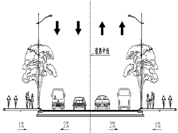 [广州]工业园区周围道路拓宽改造工程施工图纸(PDF图纸131页)