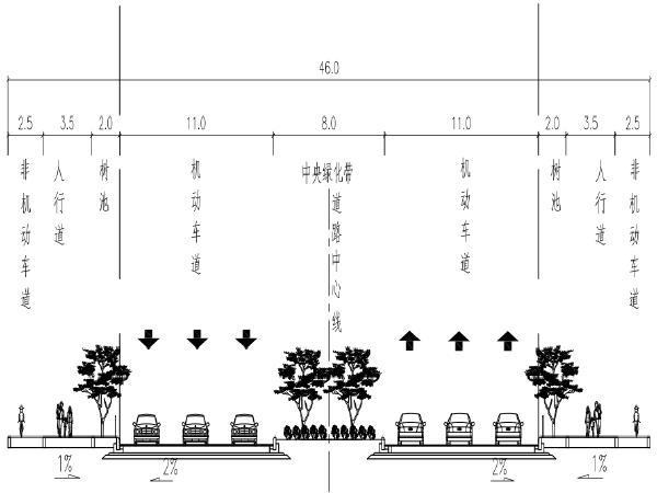 市政道路恢复及提升工程施工图pdf版(道路/交通/给排水/电气)