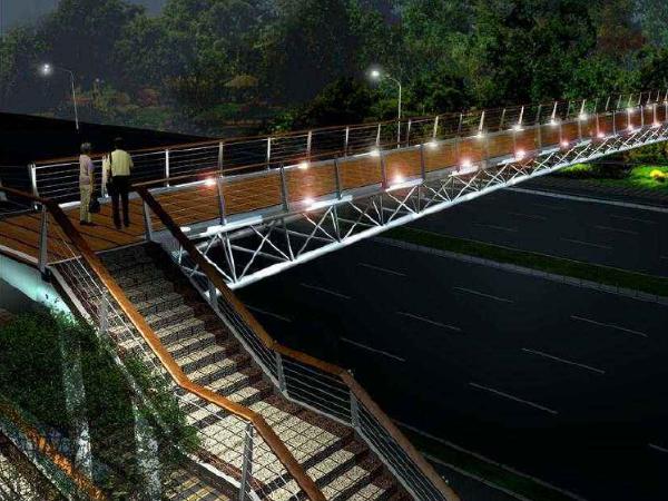 省道养护改善工程钢结构人行天桥施工方案