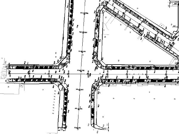 [重庆]街道人行道透水砖铺装改造设计工程施工图