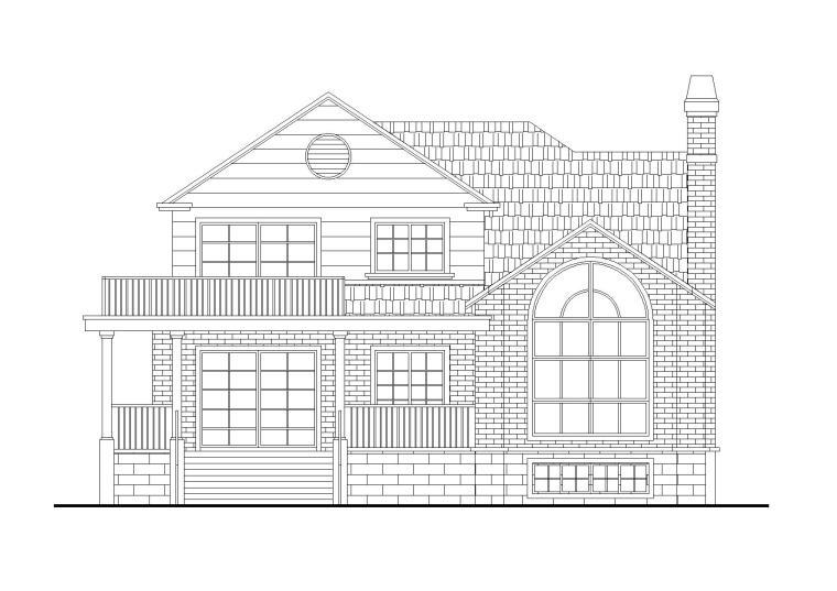现代风格坡屋顶二层独栋别墅建筑施工图