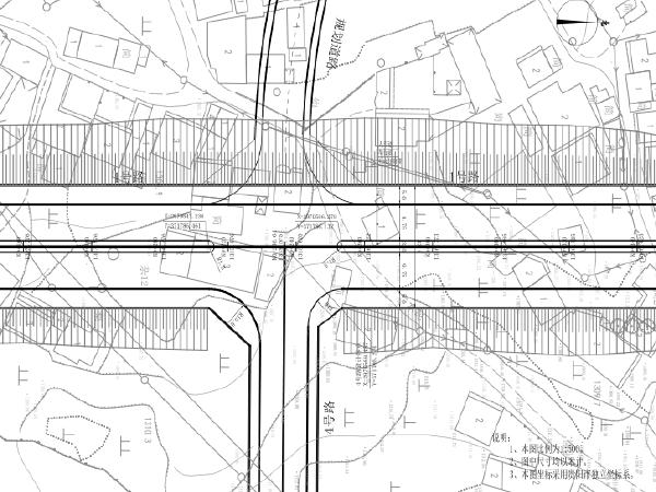 道路平面总图 道路纵断面图 一般横断面图 路基设计图图片