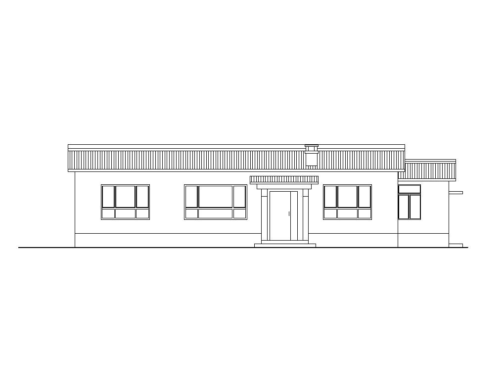 [山西]新农村砖木结构布局紧凑一层住宅施工图