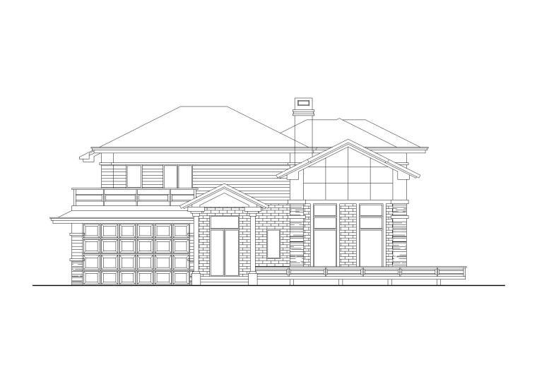 [山东]坡屋顶两层独栋别墅建筑施工图