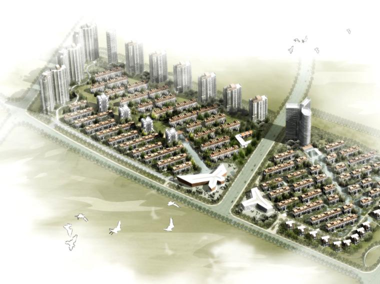 [山东]海阳魅力海岸滨海高端住宅项目规划图纸