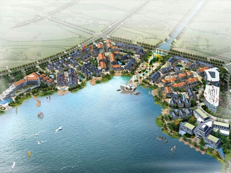 [江苏]苏州青剑湖滨湖仿古商业建筑项目规划设计文本