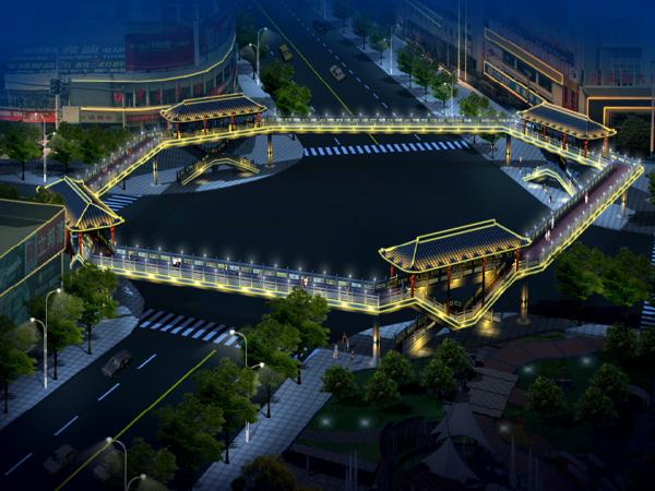 [汉中]中心广场人行天桥施工过程汇报PPT