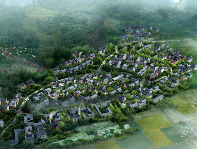 [四川]彭州市磁峰镇农村大院子居住组团规划设计