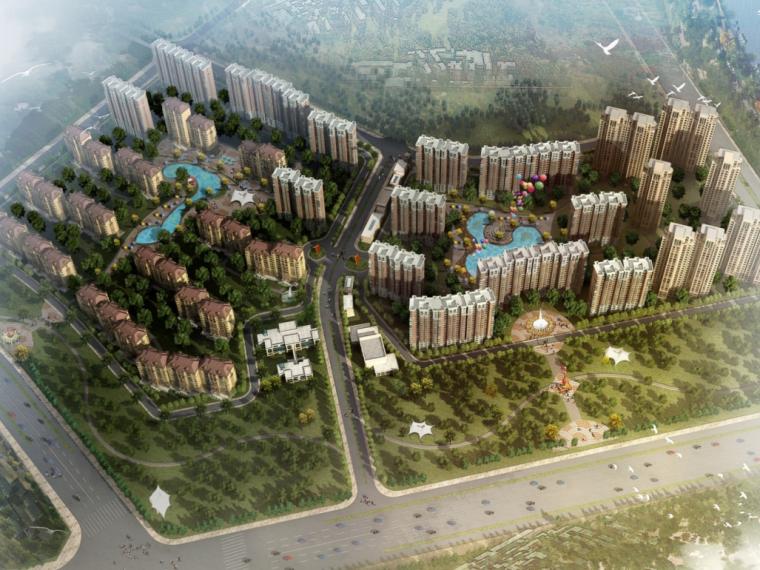 [北京]亦庄某大型居住区规划设计汇报文本