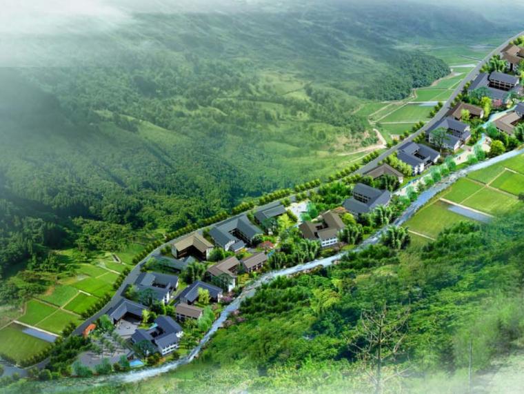 [四川]石梁社区古寺村新农村传统生活模式住宅规划设计方案