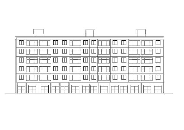 某六层商住(底商)住宅楼建筑施工图