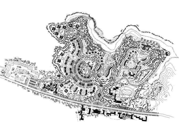 [重庆]水天花园高端综合住宅小区规划设计方案图(清华)