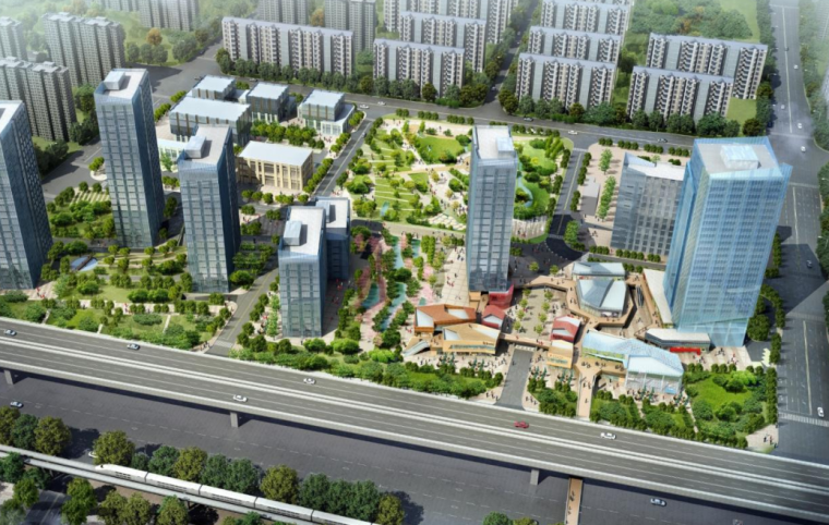 [北京]万科长阳中央城绿地景观方案文本深化设计-万科