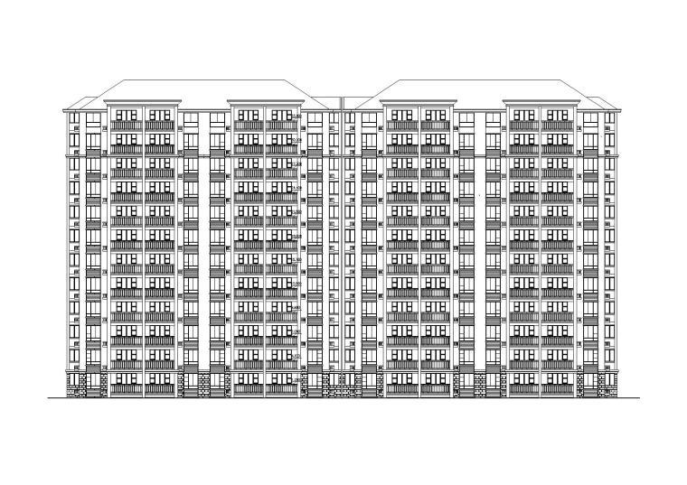 12层坡屋顶小高层住宅建筑施工图(带效果图)