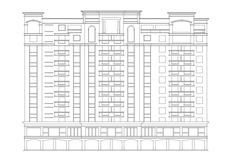 [广州]12层商住建筑施工图