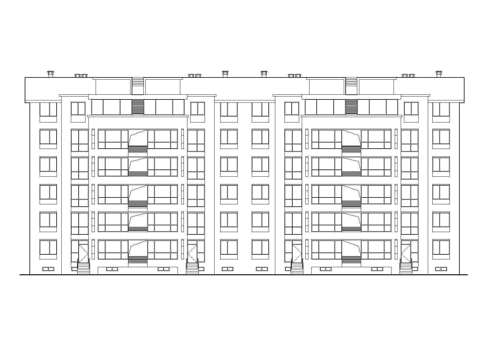 某六層坡屋頂(頂層復式)住宅建筑施工圖