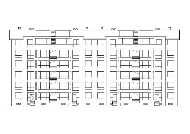某六层坡屋顶(顶层复式)住宅建筑施工图