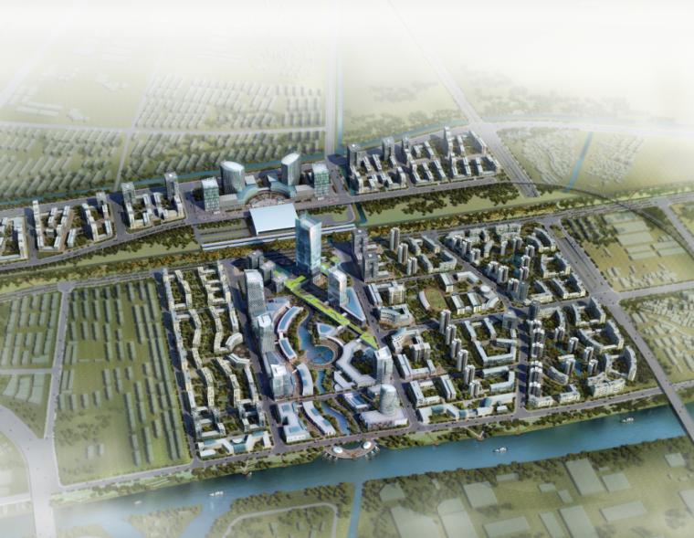 3D渲染鸟瞰图远景效果图PSD分层素材.PSD