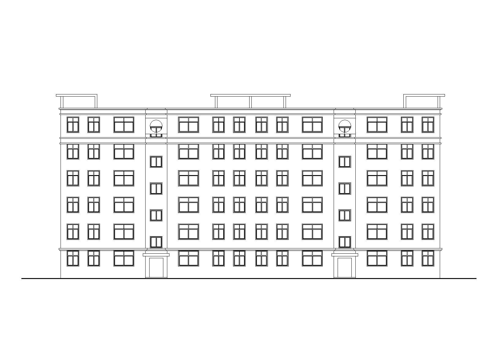 [河南]鄭州某安置小區六層住宅樓建筑施工圖