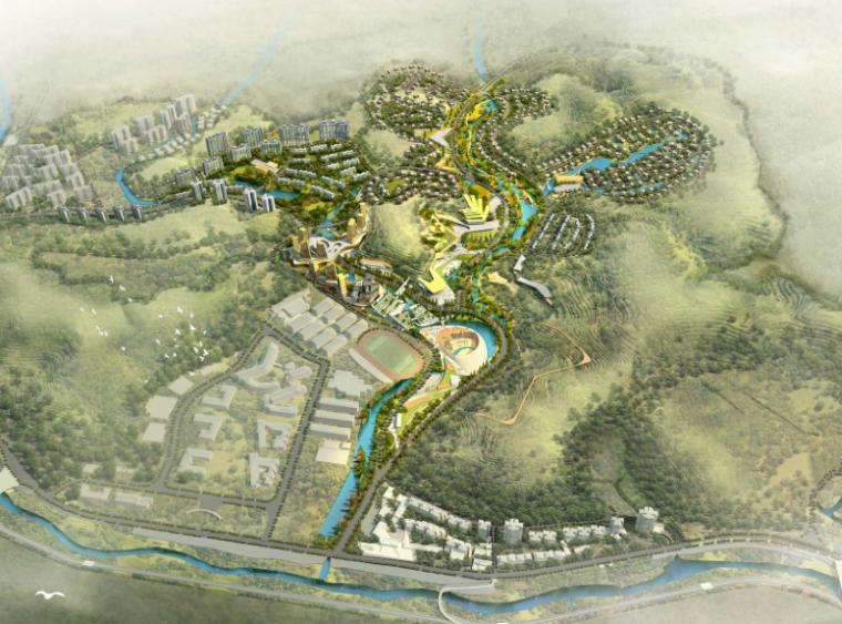 [四川]养生谷国际盐井湿地公园生态旅游度假区概念规划方案文本