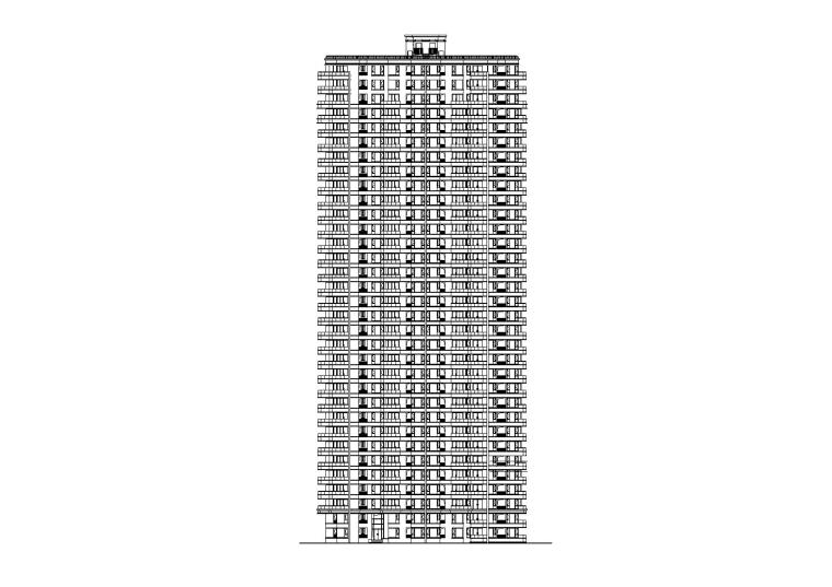 [江苏]苏州某居住小区33层住宅建筑设计施工图