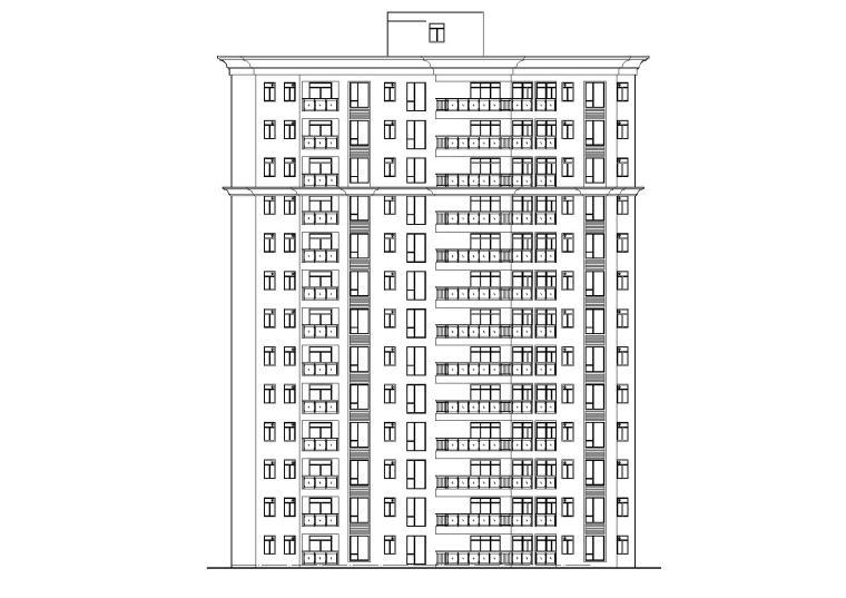 [广东]东莞某十三层住宅楼建筑施工图
