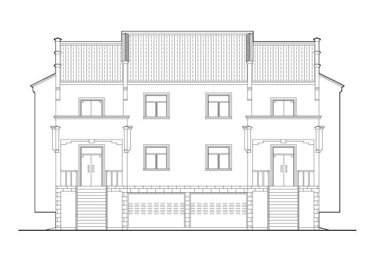 皖南农村二户并联式小康住宅建筑施工图(带效果图)