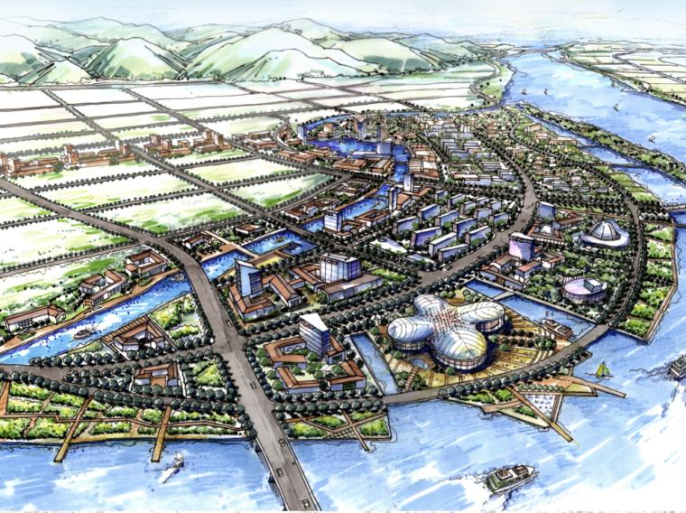 [浙江]富阳中沙岛休闲科技综合生活区概念性规划文本