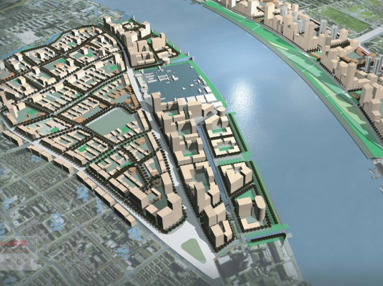 [上海]黄浦江两岸(E10及W7地区)商务中心区总体规划设计方案图