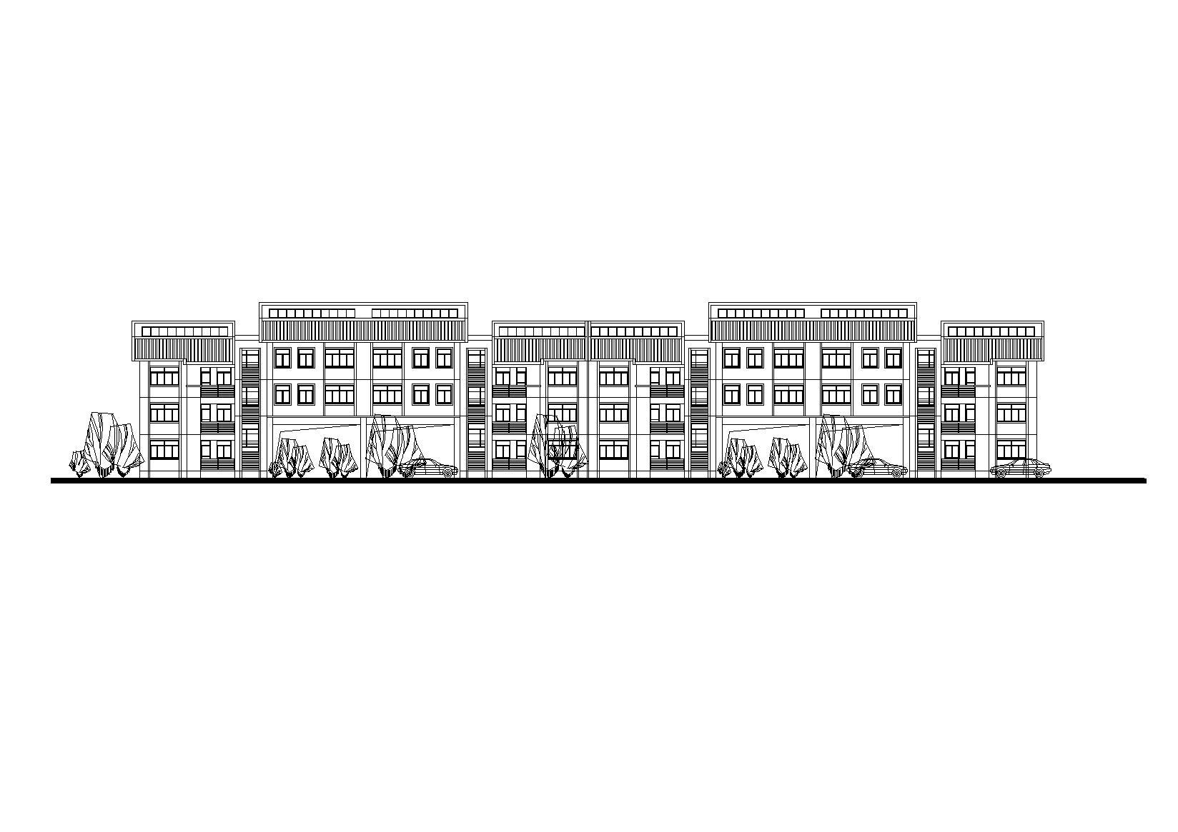 蘇南傳統民居村鎮安居型公寓住宅建筑施工圖(CAD+DOC)
