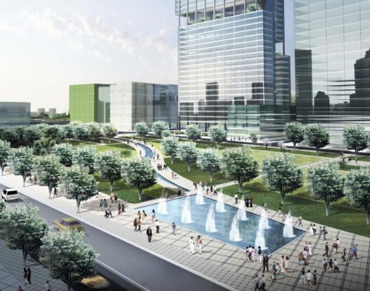 [浙江]宁波江东江之园核心商务中心区城市设计方案图