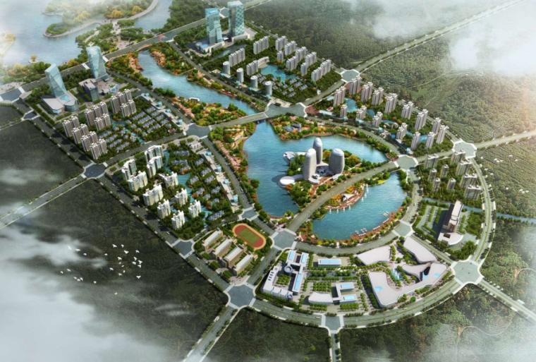[上海]金山工业园区中心景观设计方案文本(水岸绿洲,活力新城)