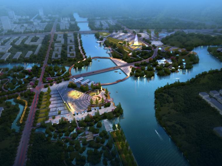 滨水景观ps素材|城市规划项目景观效果PSD分层素材
