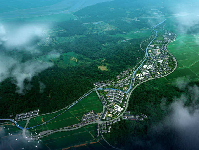 城乡规划ps素材|区域规划图psd分层素材