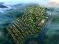 乡村规划ps鸟瞰图|区域规划效果图鸟瞰图psd分层素材