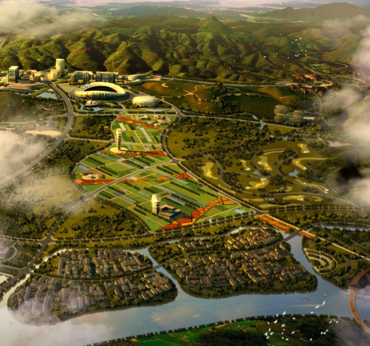 景观规划ps鸟瞰图|房地产楼盘鸟瞰图psd分层素材