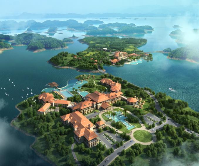 景观ps效果图-海岛景观psd分层素材