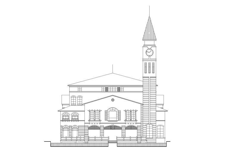 [广东]深湾花园三层社区中心建筑施工图