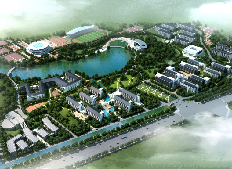 [安徽]滁州学院南校区扩建项目建筑设计方案(JPG+CAD+SU)